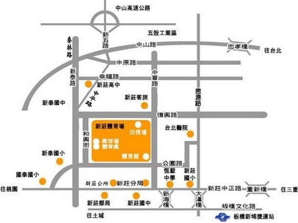 新莊場區地圖